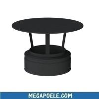 Chapeau standard - Conduit double paroi noir