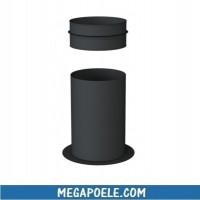 Support au sol recoupable pour Té compact ø 80/125